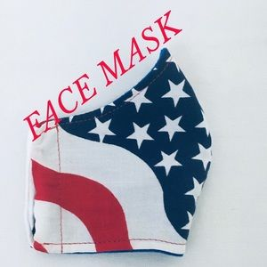 Accessories - FACE MASK COTTON PATRIOTIC RED WHITE BLUE